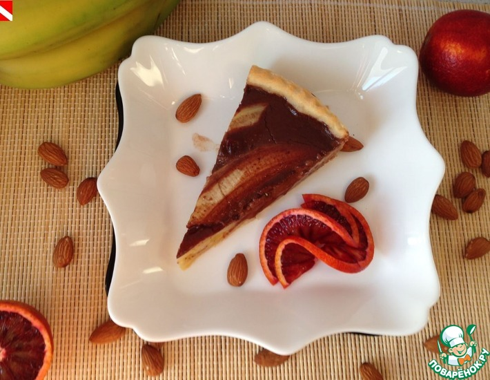 Рецепт: Тарт с бананами и шоколадом Банан в шоке