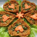 Овощные пирожные с чечевицей