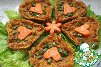 Рецепт: Овощные пирожные с чечевицей