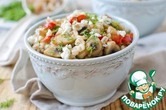 Рецепт: Перловая каша с грибами и адыгейским сыром