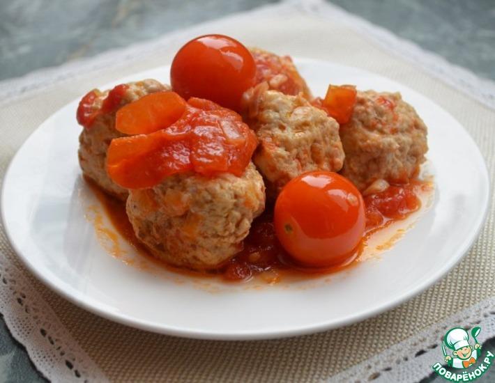 Рецепт: Фрикадельки с помидорами в мультиварке