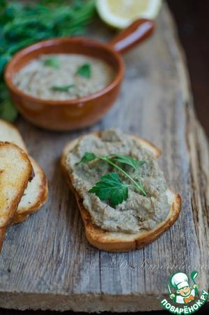 Постный паштет из чечевицы с соевым соусом