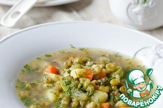 Рецепт: Постный суп с машем и овощами в мультиварке