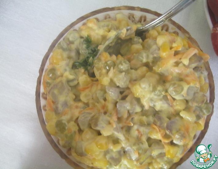 Рецепт: Салат с печенью