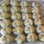 Булочки Жаворонки на хлебной закваске