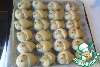 Рецепт: Булочки Жаворонки на хлебной закваске
