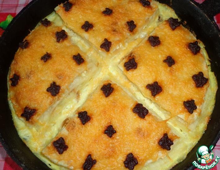 Рецепт: Сырно-творожные мини-пироги из лаваша
