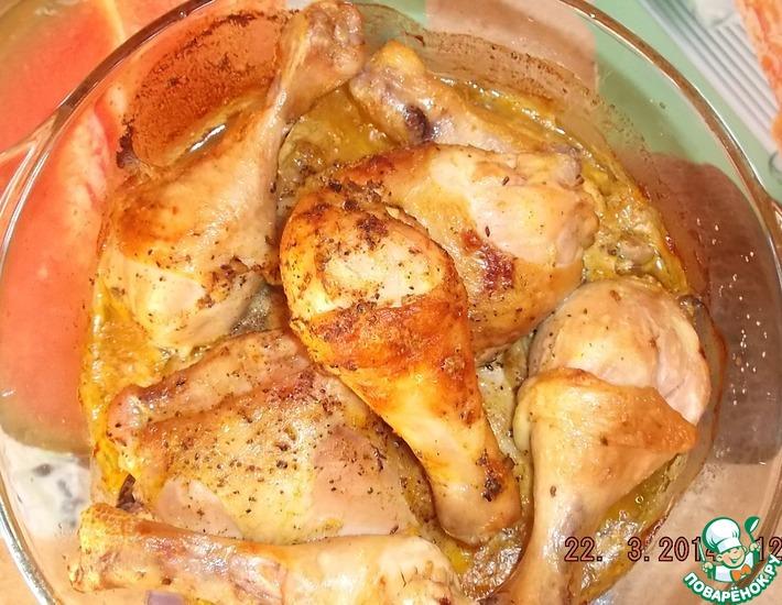 Рецепт: Курица по-домашнему