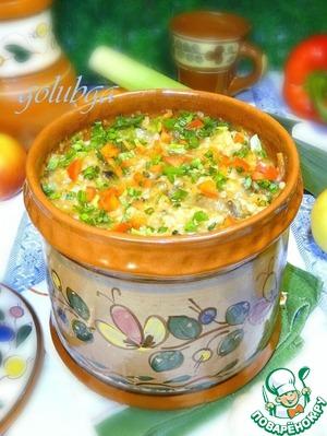 Porridge with mushrooms