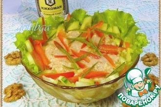 Рецепт: Салат из огурцов с ореховым соусом
