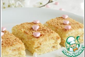 Рецепт: Нежное пирожное с карамельным кремом