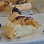Торт Париж-Брест с фиалковым кремом