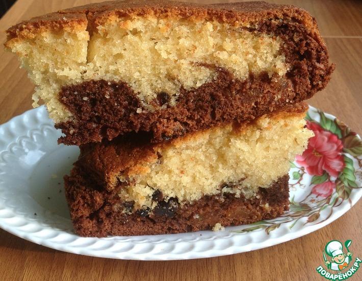 Рецепт: Шоколадно-ванильный пирог Таинство