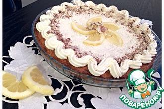 Рецепт: Хрустящий кокосовый тарт с лимоном