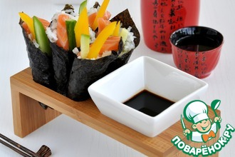 Рецепт: Темаки суши (суши-кулечки)
