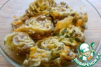 Рецепт: Гусарики в горшочках в сметанно-грибном соусе