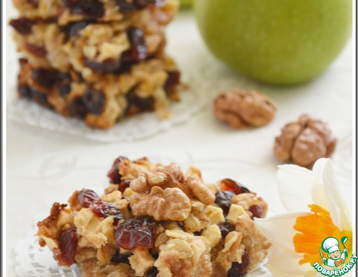 Клюквенно-яблочное печенье – кулинарный рецепт