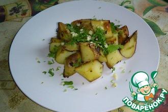 Рецепт: Печеный Картофель с зеленью в соевом соусе