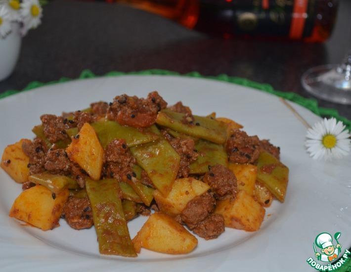 Рецепт: Турецкая сковородочка со стручковой фасолью, от Юсуфа