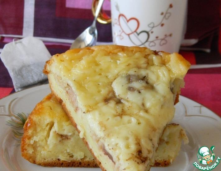 Рецепт: Сырный пирог с фрикадельками