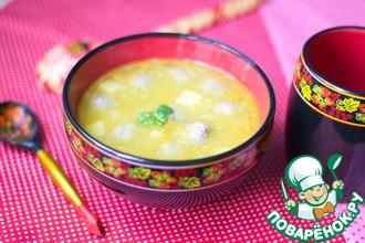 Рецепт: Гороховый суп с фрикадельками
