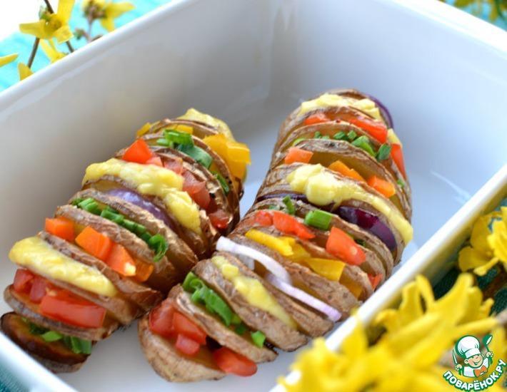 Рецепт: Запеченный картофель Радуга