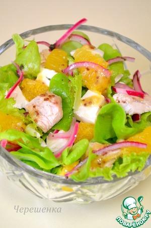 Салат с индейкой, апельсином и фетой – кулинарный рецепт