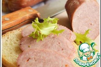 Рецепт: Колбаса домашняя свиная с курицей
