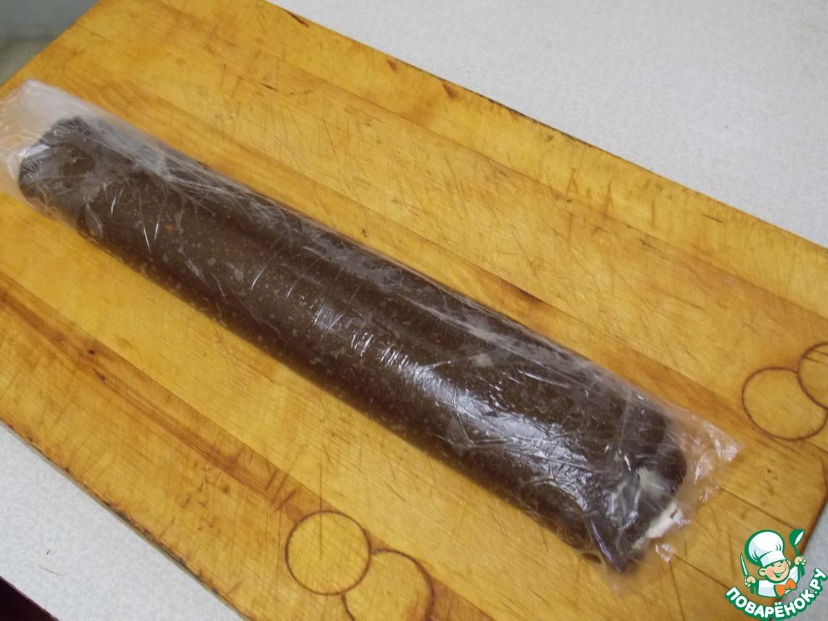 Шоколадно-зефирный рулет