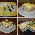 Слоёный салат с крекерами