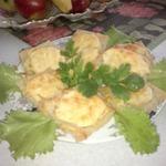 Гренки с сыром и яблоками