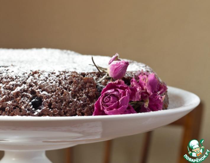 Рецепт: Простой шоколадный кекс с ягодами