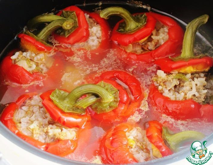 Рецепт: Фаршированные перцы по-гречески