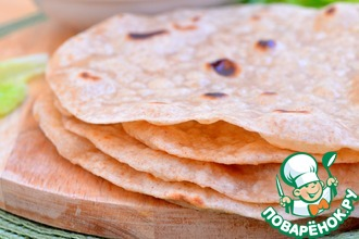 Рецепт: Индийские лепешки «Чапати»