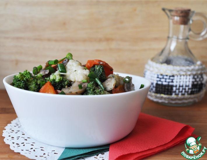 Рецепт: Овощной гарнир с итальянскими травами