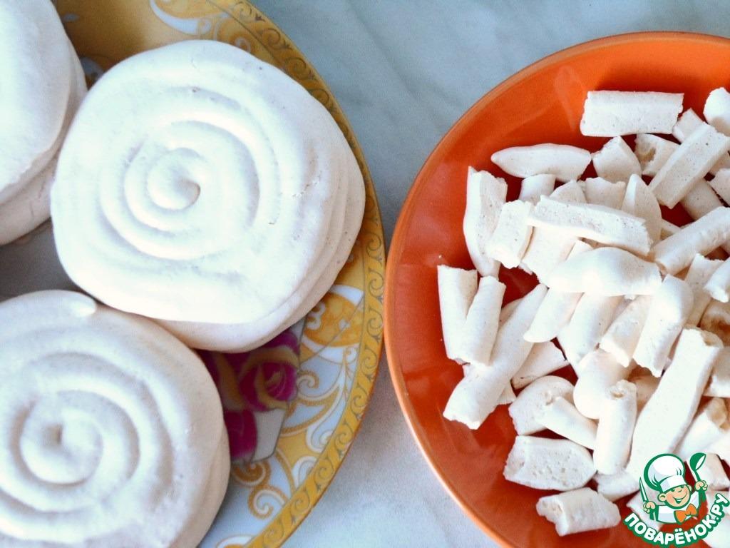 Пирожные с безе и сливочным кремом