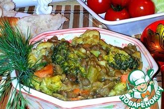 Рецепт: Чечевица с овощами