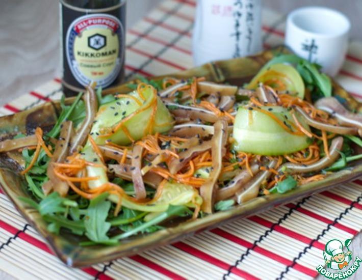Рецепт: Салат из свиных ушек