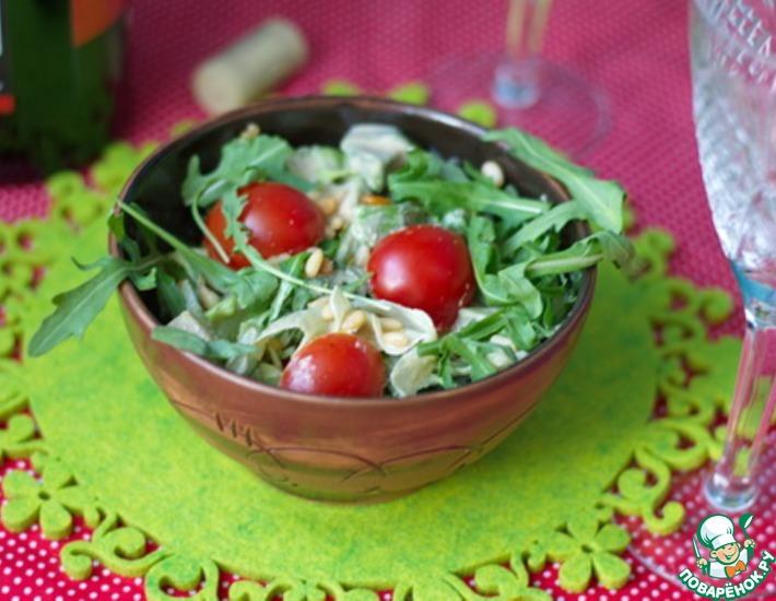 Рецепт: Салат из авокадо и рукколы