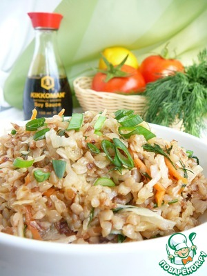 Buckwheat porridge with cabbage