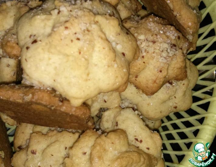 Рецепт: Печенье песочное Сахарное (для экструдера)