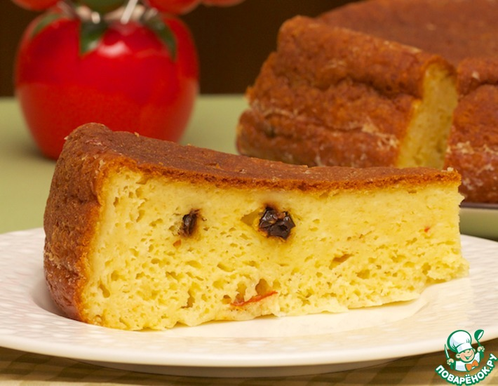 Рецепт: Сырно-кукурузный пирог из мультиварки