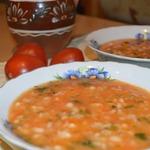 Суп из лобио