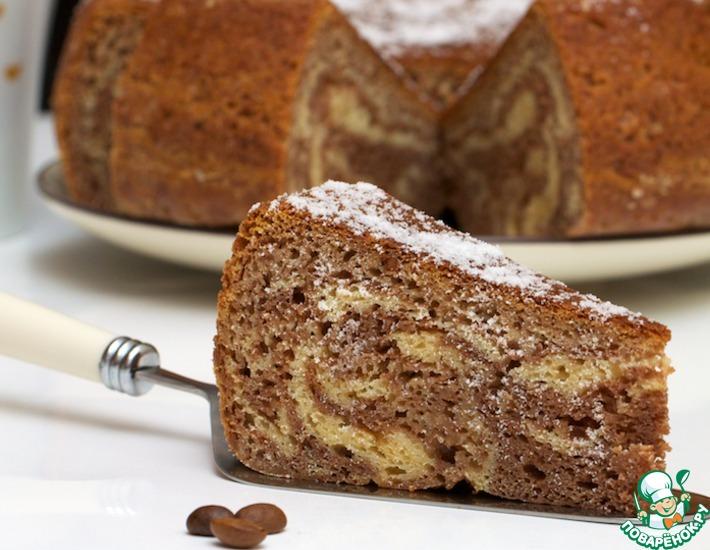 Рецепт: Мраморный пирог из мультиварки
