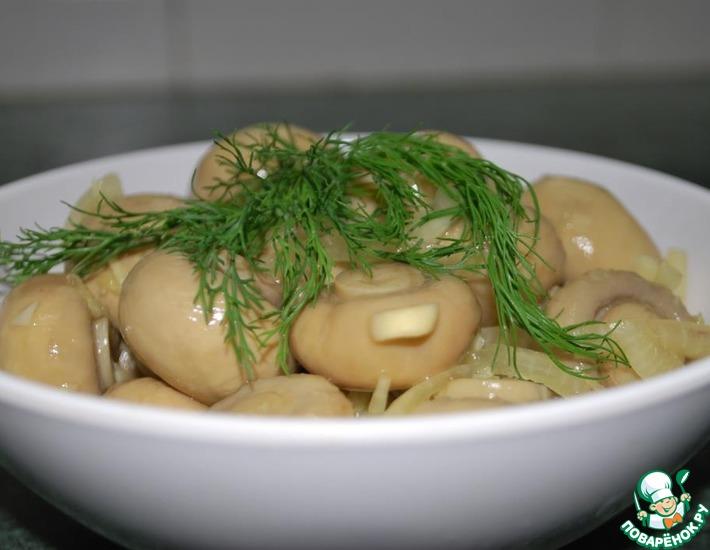 Рецепт: Маринованные грибы с имбирем