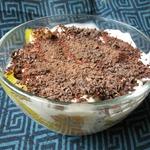 Зимний фруктовый десерт со сметанным кремом