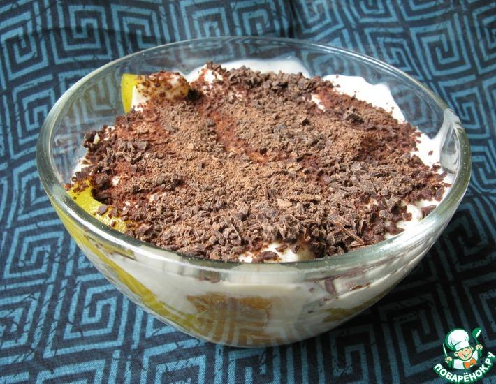 Рецепт: Зимний фруктовый десерт со сметанным кремом