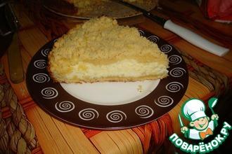 Рецепт: Творожный пирог с крошкой