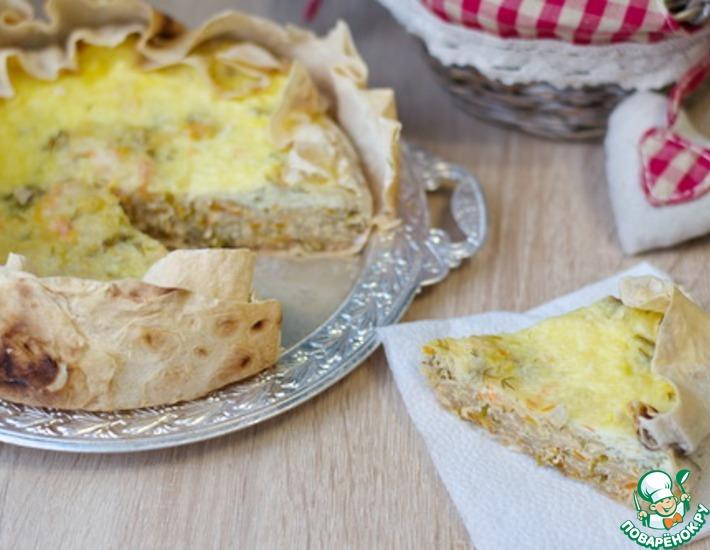 Рецепт: Пирог-запеканка с капустой