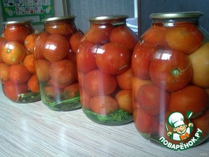 Canned cucumbers and tomatoes without sterilization